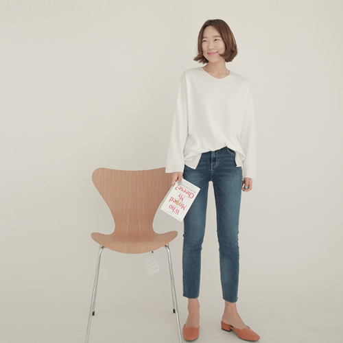 2018 Cheese skinny (ver.밴딩-라인일자컷)[size:S,M,L,XL / 1color]