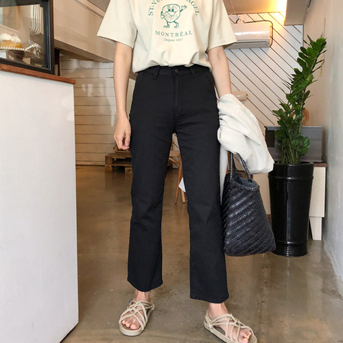 2018 Cheese black jean (ver.썸머블랙데이핏)[size:S,M,L,XL / 1color]