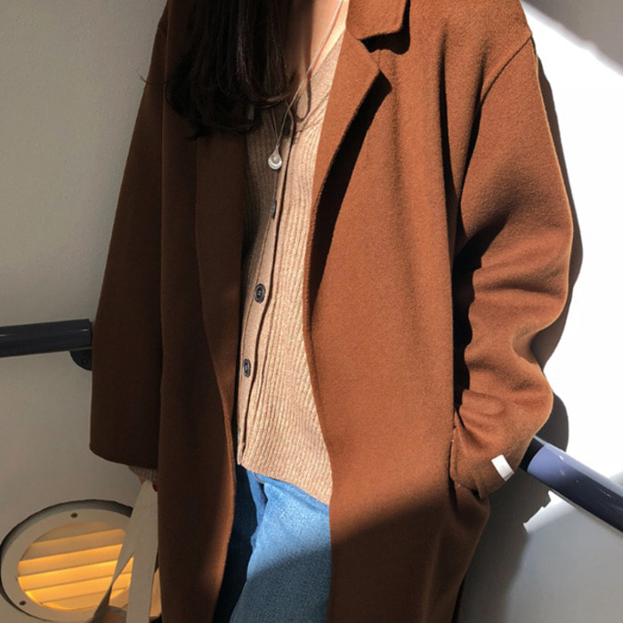MMMM/Maximal-핸드메이드코트 (울90%,Brown)[HIGH-QUALITY HANDMADE COAT]