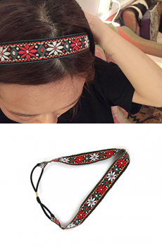 Red flower hair-band