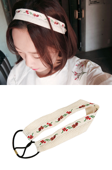 Rose hairband