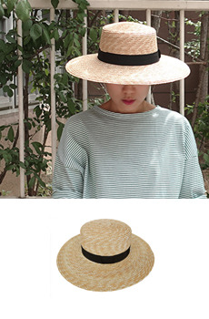 Band straw hat