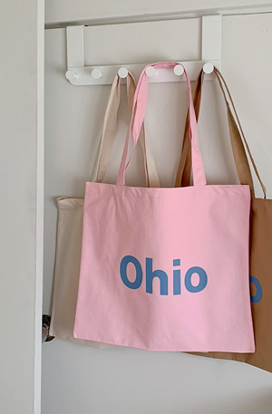 'OHIO' Lettering cotton bag