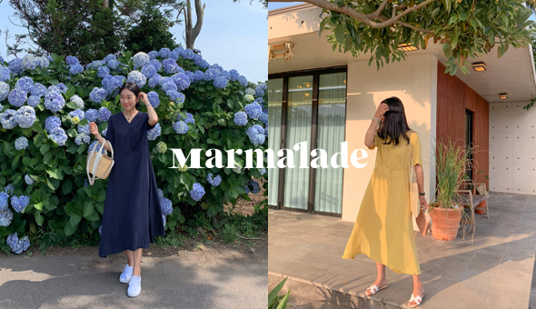 Marmalade♥.라라 차르르 랩원피스[size:1(44~55),2(66~77) / 2color]